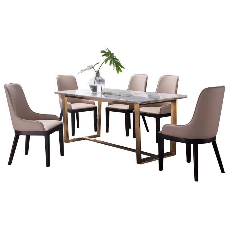 Vivan Interio Stainless Steel Gold, Dining Room Set Metal Legs