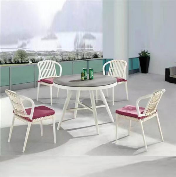 Vivan Interio Modern Garden Rattan Wicker Dining Set Outdoor Furniture Cane Dining Table And Chair Vivaninterio